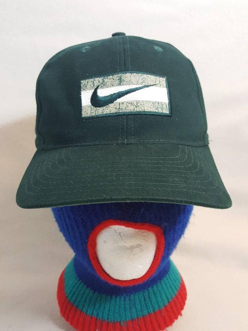 Vtg 90a Nike swoosh Snapback  hat  cap Air max tn image 0