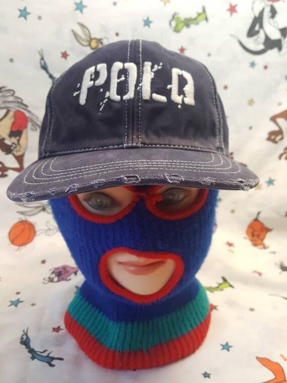 Vtg Polo distressed  Spellout dad hat RL Polo Spor