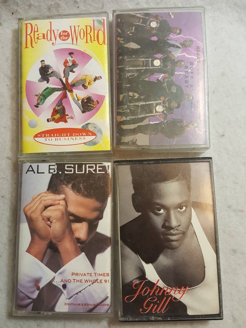 Vtg 90s R/&B Casette tape lot bundle Ready for the World  Al B Sure Johnny Gill