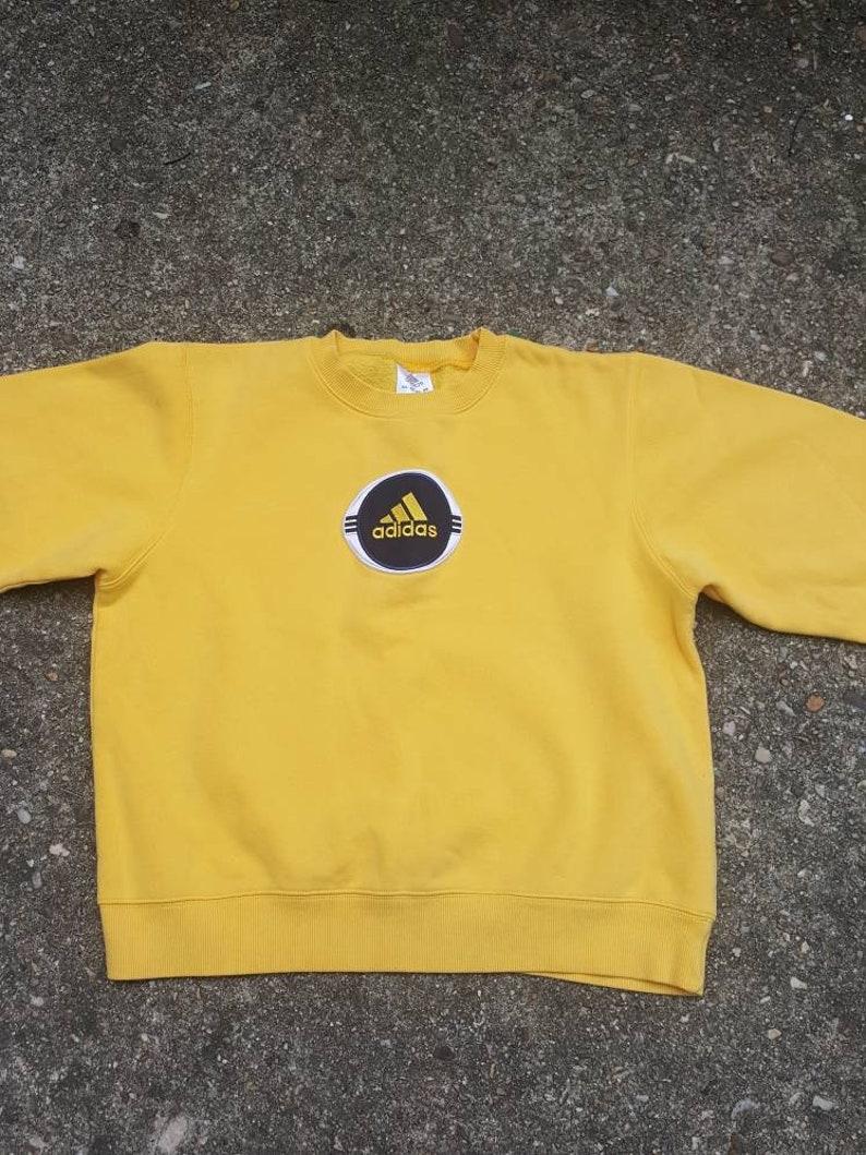 Vtg Adidas  Crewneck sweatshirt 3 Three Stripe Sz LG trefoil image 0