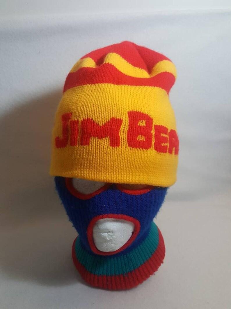 Vtg Jim Beam liquor Beanie hat  Winter cap 70s 80s alcohol image 0