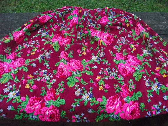 Romanian Woolen Skirt ukrainian Romanian floral w… - image 2