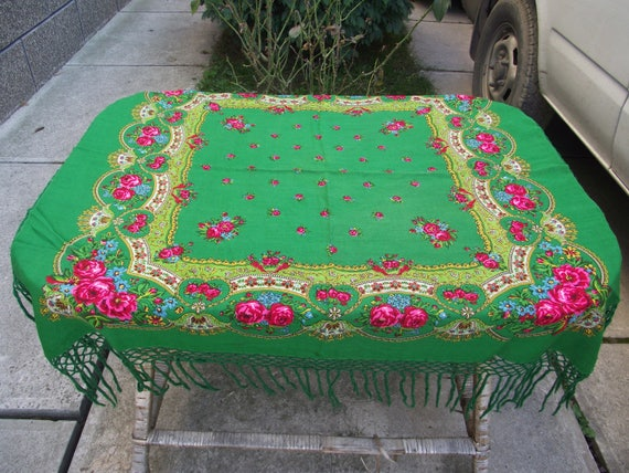 russian scarf Wedding table cloth cover table topp