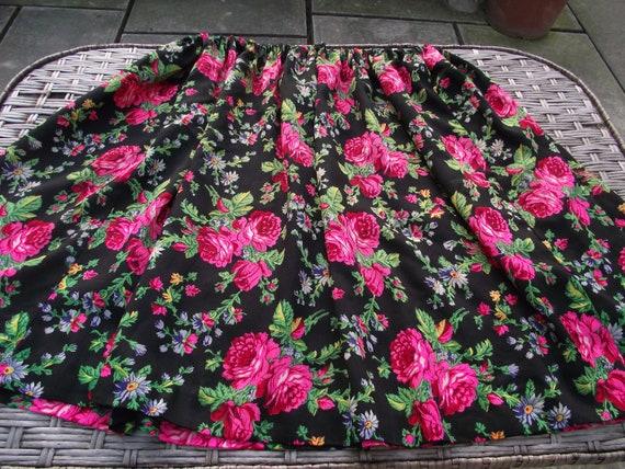 Romanian Woolen Skirt Big skirt Romanian floral wo