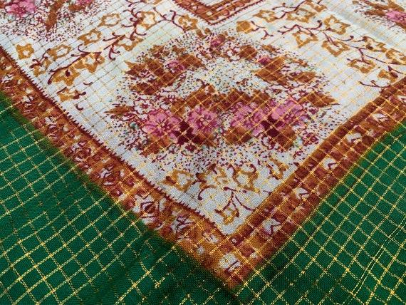 Fine Soviet Floral Shawl Romanian shawl Vintage Uk