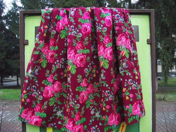 Romanian Woolen Skirt ukrainian Romanian floral w… - image 1