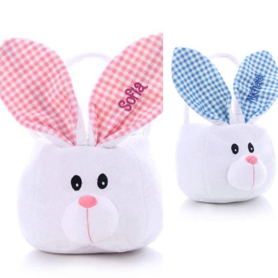 Personalized easter bunny basket girls easter basket baby negle Images