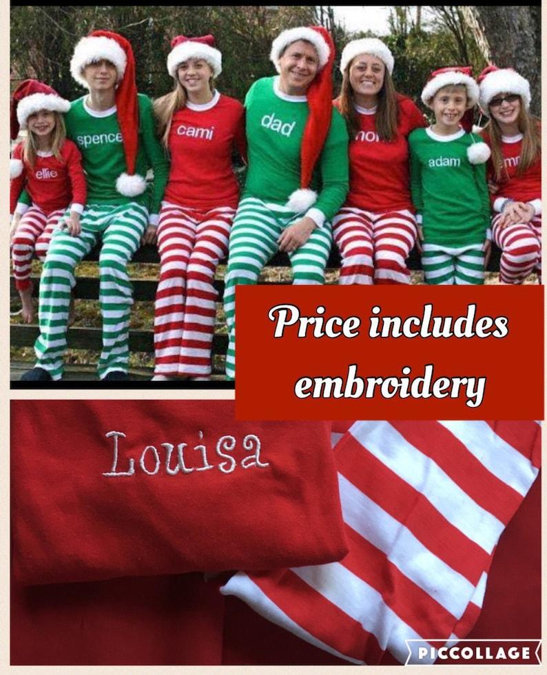 8b70d630ce Family Christmas pjs Christmas Family Pajamas Personalized
