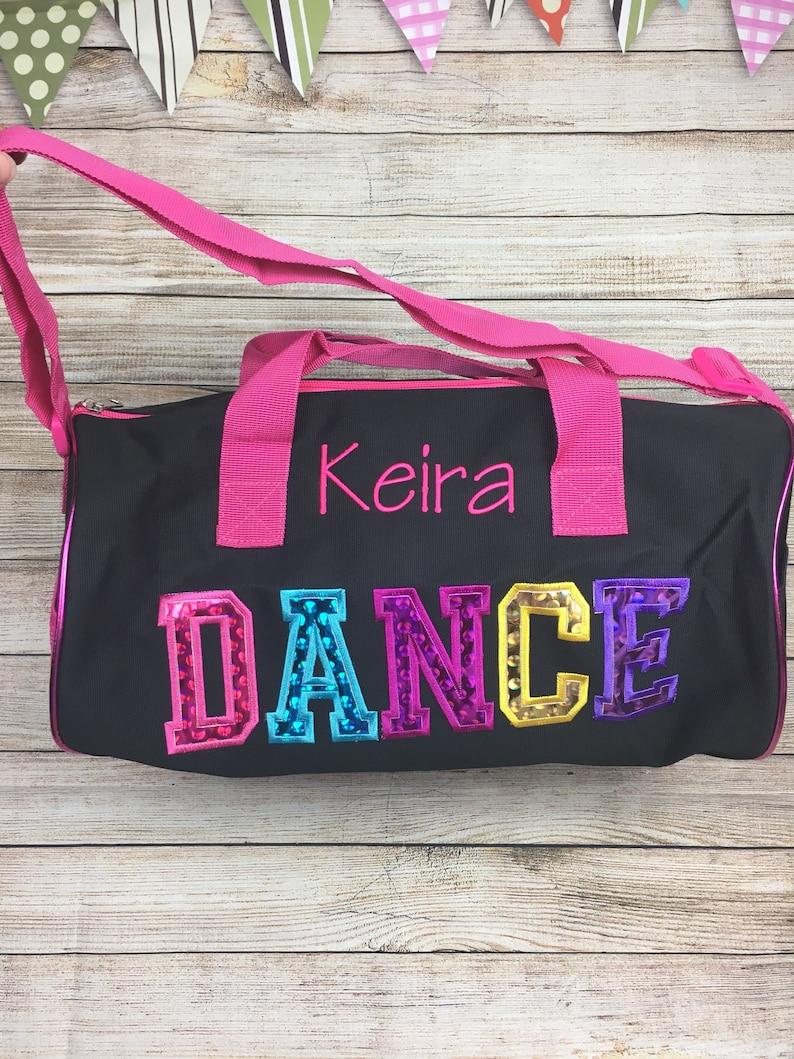 f668470f545c Dance Bag for Girls, Personalized Toddler Dance Bag, Sparkly Dance Bag,  ballet dance bags Personalized Monogrammed Dance Duffel Bag