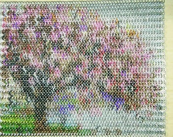 Framed Cherry Blossom Tree Art In Chainmaille