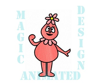 Foofa Machine Embroidery Design in 2 sizes ---Instant download---