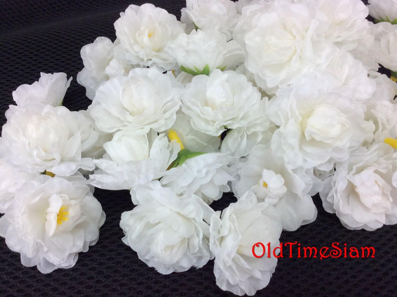 100 Pcs Supply Jasmine Jasmin Flowers Floral White Fabric Etsy