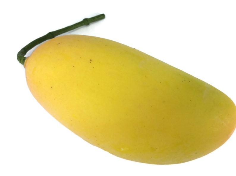 d4fed6b9712b Yellow Mango Mangoes Artificial Lifelike Simulation Faux Fake | Etsy