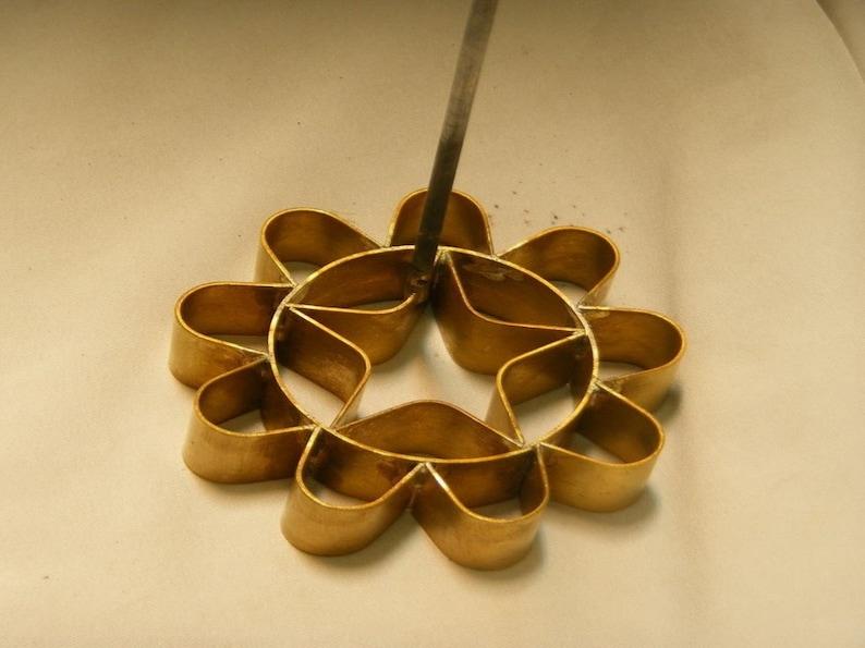 Thai Traditional Lotus Flower Kitchenware Brass Mold Snack Etsy