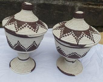 AFRICAN  2 pair basket from Rwanda