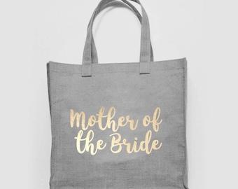 bfa6903d2 Mother Bride Bridesmaid Wedding Mrs Bridal Hen Bachelorette Woven Canvas  Shopper Tote Recycled Bag Shopping Gym Books Funny Joke Beach