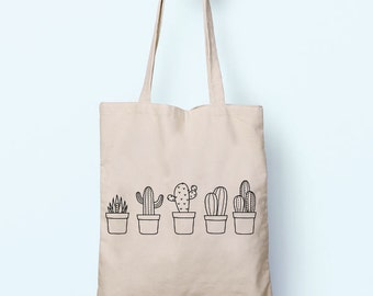 5a64a8c012 Cactus Cacti Plant Illustration Drawing Cotton Shopper Model Tote Canvas Bag  Shopping Gym Books Tumblr Funny Joke Boy Girl Sack Cotton Gift