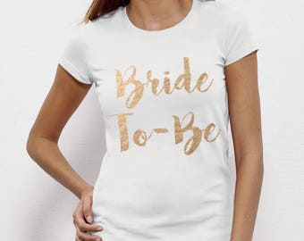 Bride To Be, Fiance, Feyonce, Wedding, Hen DO, Girls Party, Tee, T-Shirt, Top Rose GoldFree Ship