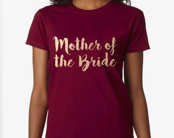 Mother Of The Bride To Be, Fiance, Feyonce, Wedding, Hen DO, Girls Party, Tee, T-Shirt, Top Rose GoldFree Ship