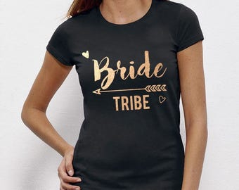 Bride Tribe, Bride To Be, Fiance, Feyonce, Wedding, Hen DO, Girls Party, Tee, T-Shirt, Top Rose GoldFree Ship