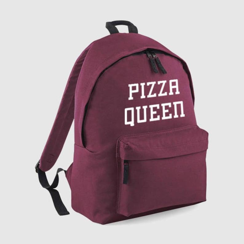 ec4236ec3d7d Pizza Queen Food, Backpack, Gym Bag, Personalised Rucksack, School Bag,  Back to School, Bag, Women Backpack, Mens Bag, Personalized Gift,