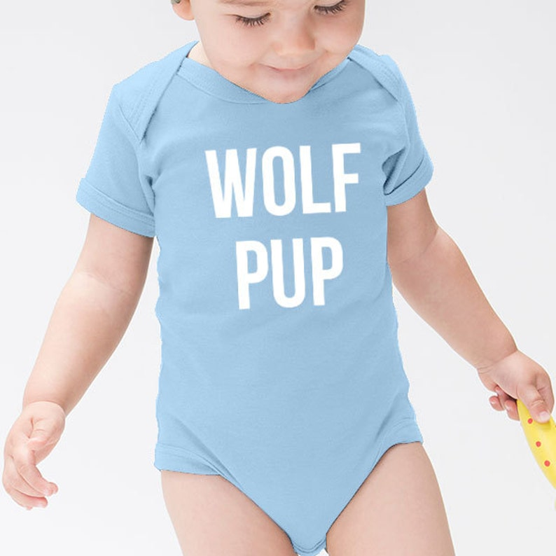 f17a3b065f18 Wolf Pup Animal Mama Slogan Quote First Baby Short Sleeved