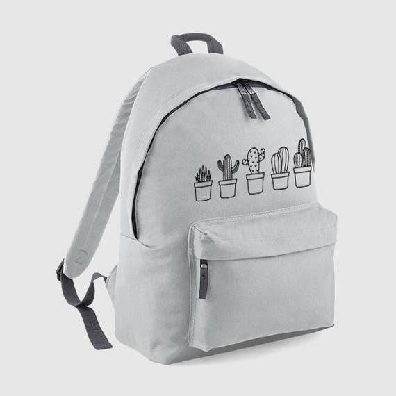 837714b60434 Cactus Cacti Plant, Backpack, Gym Bag, Personalised Rucksack, School Bag,  Back to School, Bag, Women Backpack, Mens Bag, Personalized Gift,