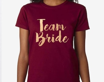Team Bride, Bride To Be, Fiance, Feyonce, Wedding, Hen DO, Girls Party, Tee, T-Shirt, Top Rose GoldFree Ship