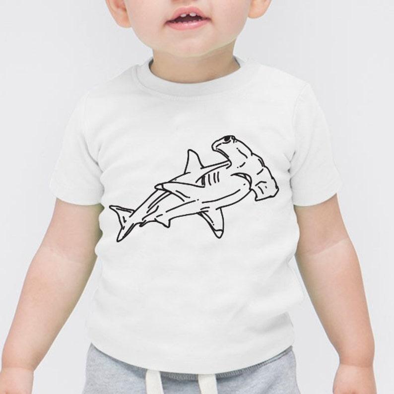 270456b12d5560 Hammerhead Shark Family Animal Cute Children Gift Toddler | Etsy