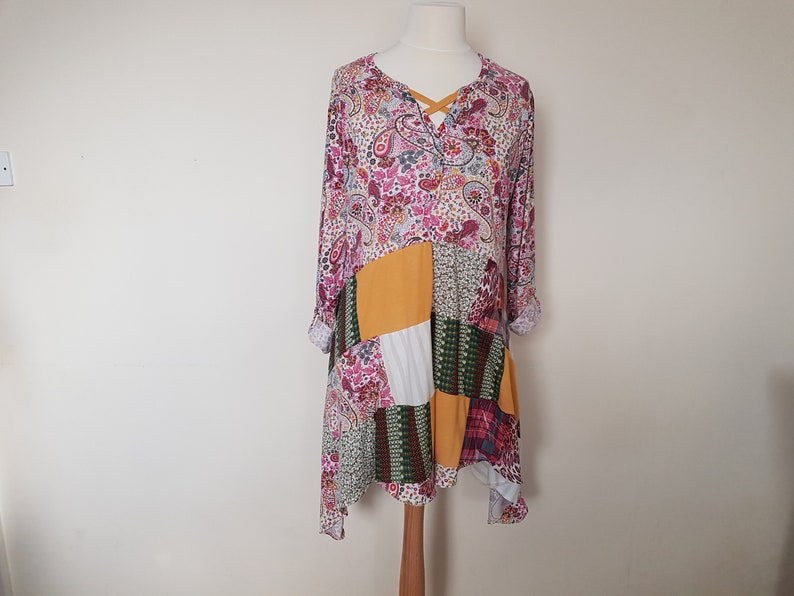 b3100091e0 Lagenlook plus size clothing Upcycled tunic Recycled clothes