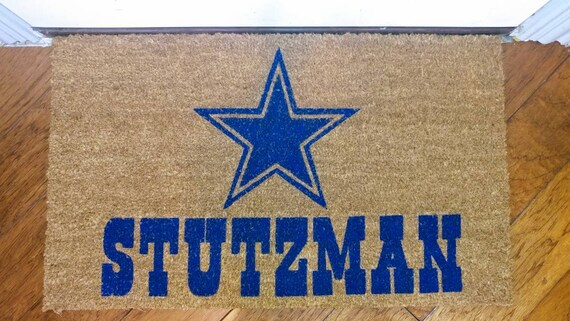 Dallas Cowboys Door Mat With Last Name