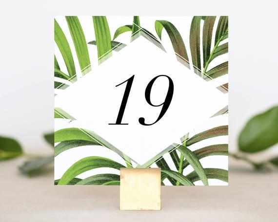 Destination Wedding Table Number - Table Number Card - Table Numbers Wedding Tropical - Table Number for Wedding - Reception Table Numbers