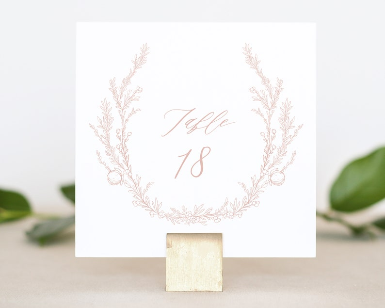 Floral Wedding Table Numbers  Elegant Wedding Decor  Dusty image 0