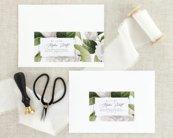 Wedding Invitation Address Labels Wedding Address Labels Etsy