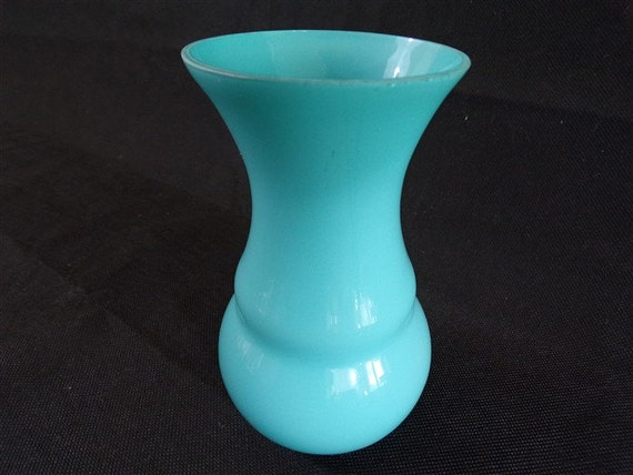 Vintage in opaline vaas blauw deco shabby chique vintage etsy