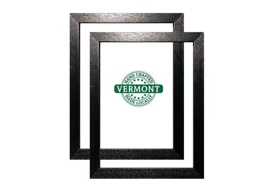 Set Of 2 11x14 Black Picture Frame Wood Handmade In Vt Etsy