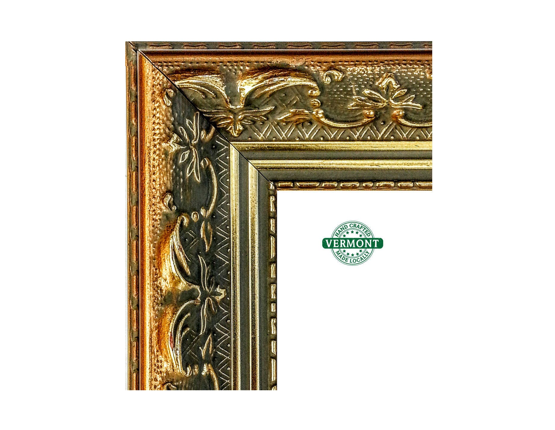 French Ornate Gold Picture Frame, Antique Gold Finish, Real Wood ...