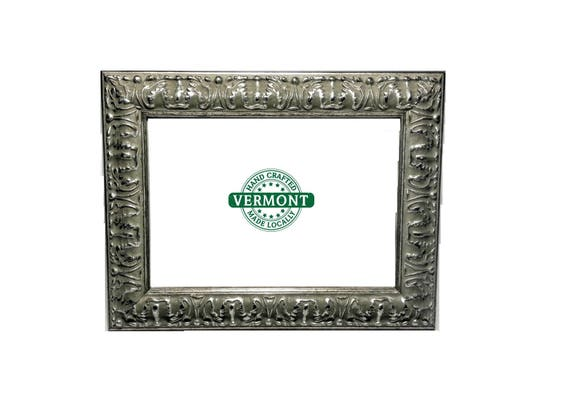 Set of 2 Ornate SILVER Picture Frame Set Petina Silver   Etsy