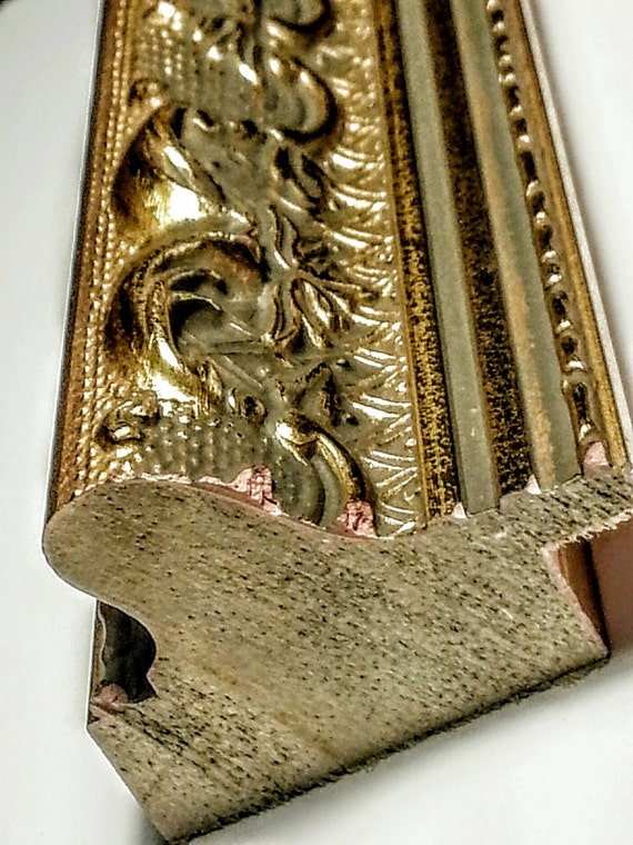 Ornate Gold Picture Frame Molding in Length Stick, Chop, Chop & Join ...