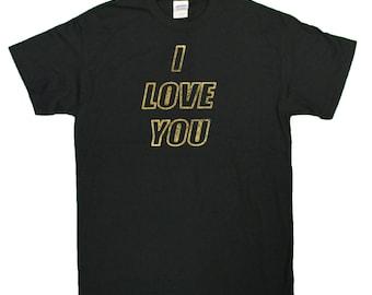 "Men's ""I Love You"" Gold Foil Printed T-Shirt"