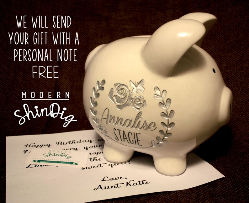 Engraved Piggy Bank Change The World Large Ceramic Bank Is Etsy