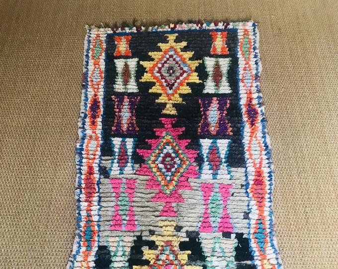 Vintage  Boucherouit Rug
