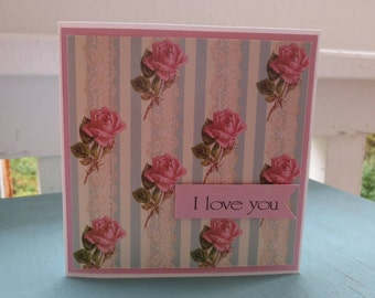 I love you - handmade card
