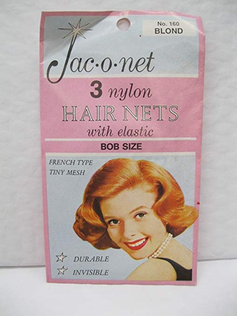 pcs  Lt Brown Jac-O-Net  #161  French Type Tiny mesh Hair Nets  w//Elastic 3
