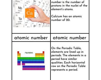 Periodic table cards etsy montessori periodic table of elements threefour part cards urtaz Image collections