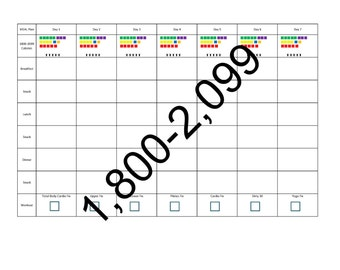 21 day fix meal planning template 1800 2099 calories