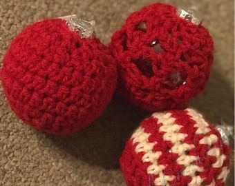 Crocheted Assorted Christmas Ornaments