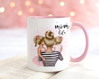 Personalized cup mom with child mother daughter mom son mother's day gift coffee cup
