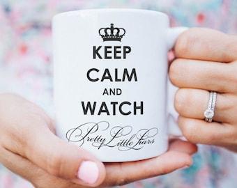 Pretty Little Liars coffee mug with print white black