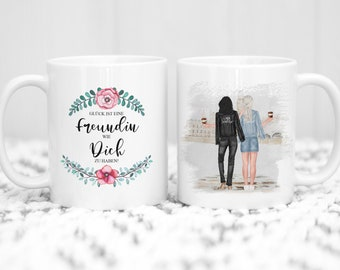 Personalized cup best friend with saying coffee mug coffee mug best friends gift